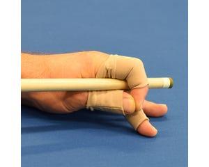 Fingerwrap biljart handschoen - beige