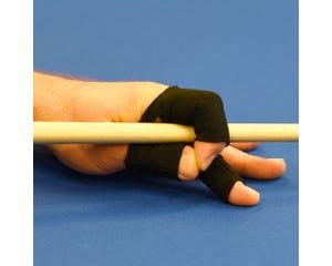 Fingerwrap biljart handschoen - Zwart