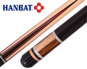 Hanbat K55 Karambol und Dreiband Billard Queue - Rot/Blau