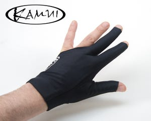 Kamui Quick Dry Black billiard glove - Left Hand