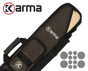 Karma Bara Soft 4x8 Billiard Cue Case - Black/Red