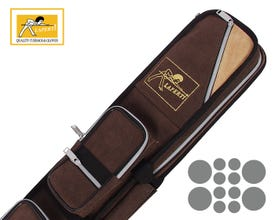 Laperti Suede Brown 4x8 Billiard Cue Case