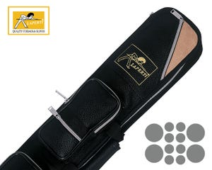 Etui queue de Billiard Laperti Suède Noir 4x8