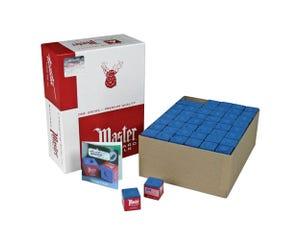 Master blauw biljartkrijt - 144 st doos