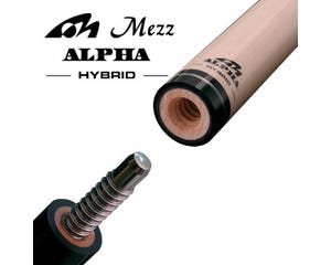 Mezz Hybrid Alpha Pool Cue Shaft - Wavy Joint