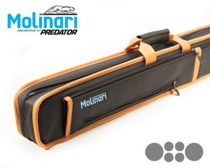 Etui de billard Molinari Soft Bag 2x4 Noir-Orange