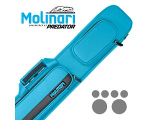 Molinari 3x6 Cyan Black Flat Bag Billiard Cue Case