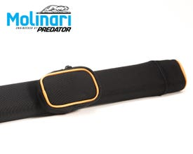 Molinari Tube billard queue tasche 1x1 Schwarz-Orange