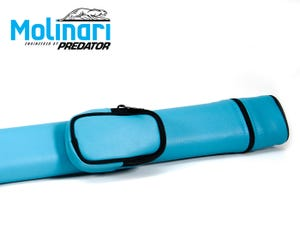 Molinari Tube billard queue tasche 1x1 Cyan
