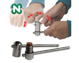 Norditalia Stahl Queue Leder Drücken - bis zu 14 mm