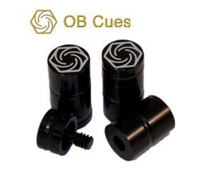 Protecteurs de joint OB Cues 3/8x10 en Aluminum