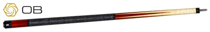 OB-131 Pool Cue: Birdseye with 6 Padauk Points and Linen Wrap