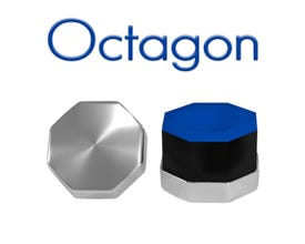 Octagonal Chrome Billiard Chalk Holder