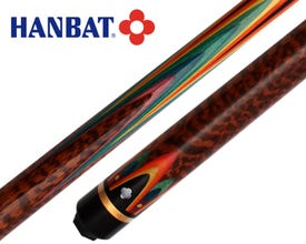 Queue de billard français Hanbat Plus-Rainbow Snakewood