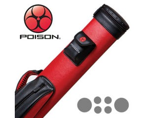 Poison 2x4 Red and Black Pool Cue Case