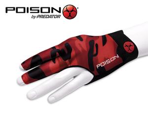 Poison Camo Billard Handschuh Rot - Linke Hand