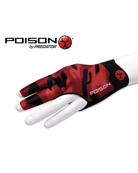 Poison Camo biljarthandschoen Rood - Linkerhand