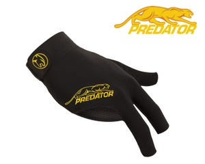 Predator SecondSkin Black-Yellow billiard glove - Right Hand