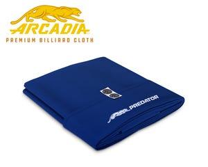 Predator Arcadia Select Pool Table Cloth - Royal Blue - Pre-cut Set