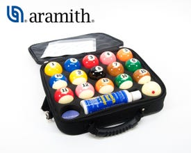 Super Aramith Pro-Cup TV Pool Balls with Case
