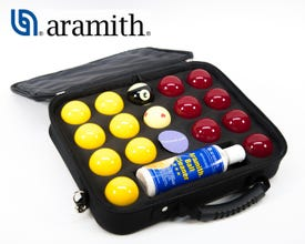 Aramith Pro-Cup 50,8 mm Blackball Poolballen met nylon tas