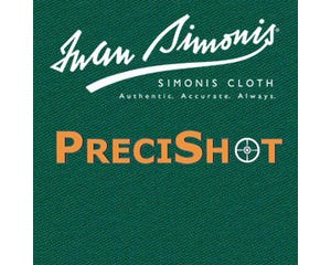 Simonis PreciShot Karambol Billardtuch für Banden - Blau Grün