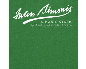 Simonis 4000 English Pool Billiard Cloth - English Green