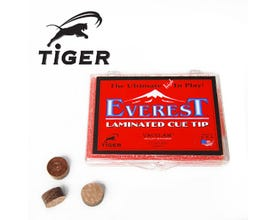 Tiger Everest Laminated Billiard Cue Tip - Medium Hardness